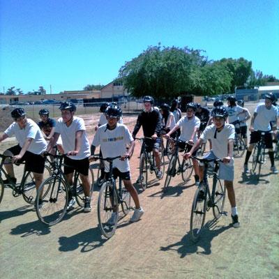 LAUSD cycling school class